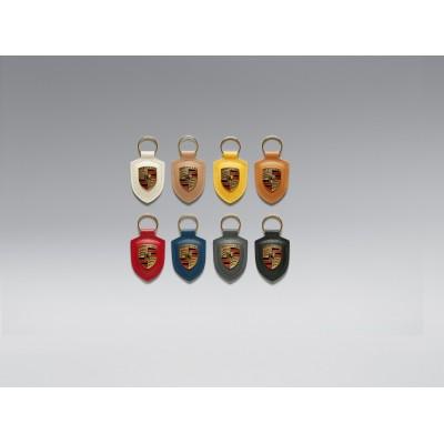 Porte-clés Porsche en cuir véritable