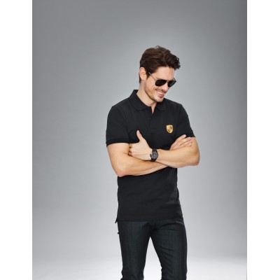 Porsche Crest polo shirt - Heritage Collection [Black]