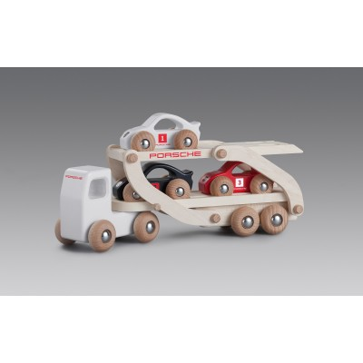 WOODEN TOY RACE TRUCK