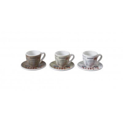 Espresso cups, set of three – Classic – limited edition